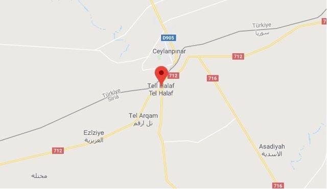 La ciudad siria fronteriza con Turquía Tell Halaf.