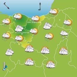 Previsiones meteorológicas para el 1 de diciembre en Euskadi.