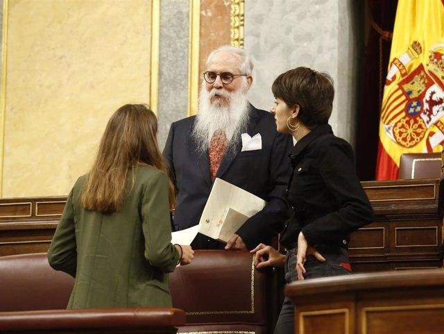 Agustín Zamarrón, diputado del PSOE y presidente de la Mesa de edad en la sesión constitutiva
