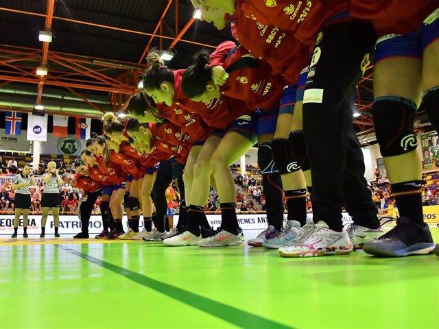 La selección española femenina de balonmano Guerreras