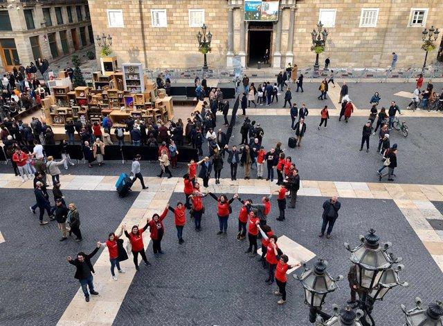 Acte del Dia Mundial de la Sida a Barcelona.