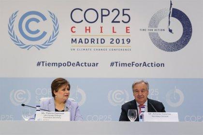 """COP25.- António Guterres exige voluntad política para que el reto climático no sea """"inalcanzable"""": """"Estamos en el hoyo"""""""