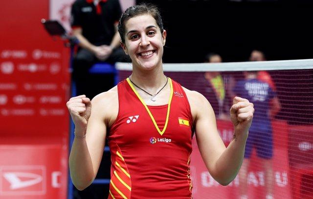 La jugadora española de bádminton Carolina Marín