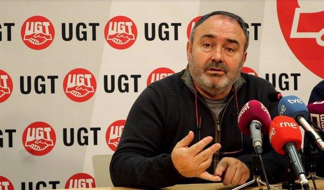 Secretario regional de UGT, Carlos Pedrosa