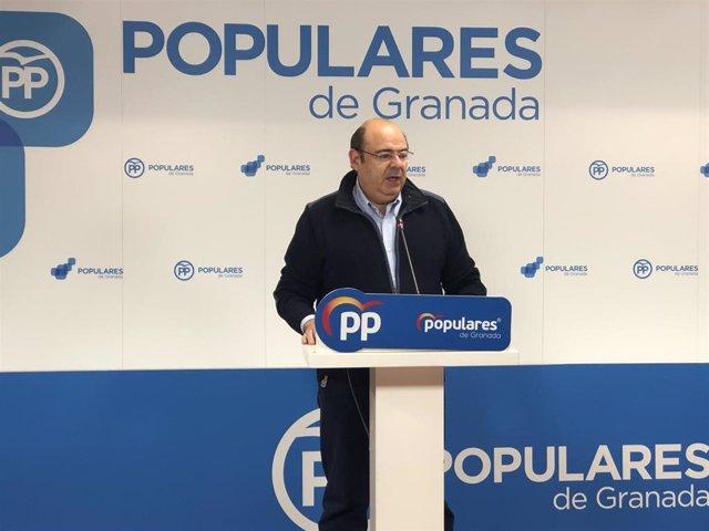 Sebastián Pérez en una rueda de prensa en una imagen de archivo