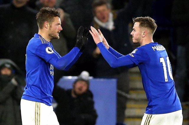 Jamie Vardy, en un partido del Leicester City.
