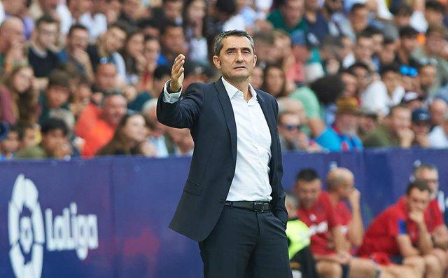 """Fútbol.- Valverde, sobre el gol de Messi: """"Los buenos jugadores son los que mejo"""