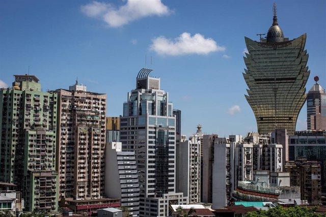 Zona finaciera de la región de Macao, al sur de China oriental