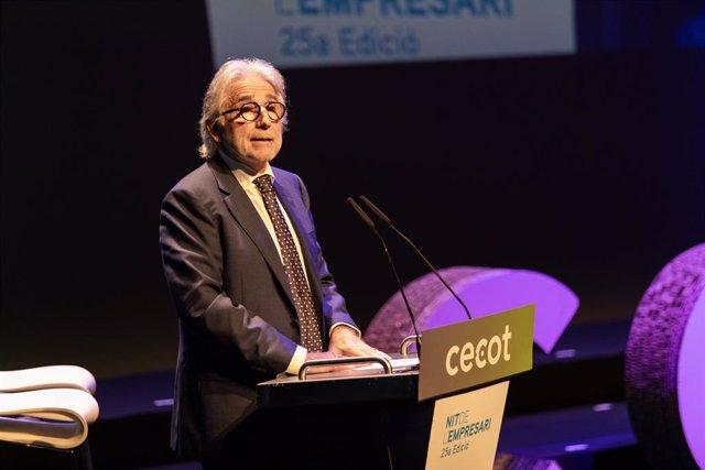 El president de Foment del Treball, Josep Sánchez Llibre, en la Nit de l'Empresari de Cecot