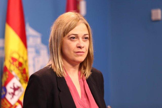 La portavoz de Cs, Carmen Picazo, en rueda de prensa.