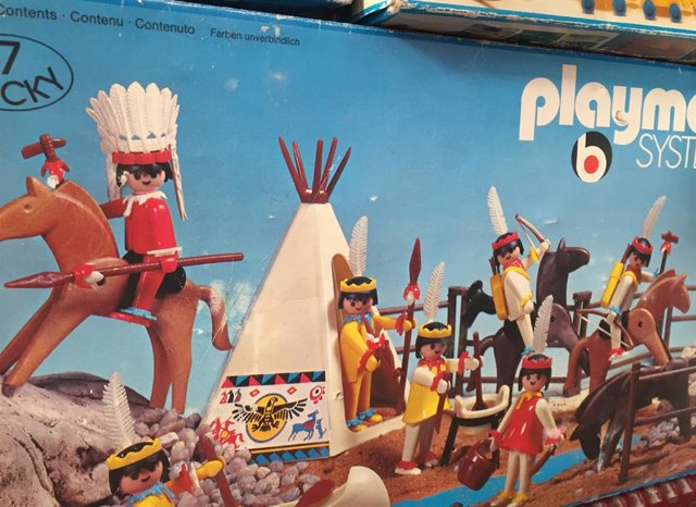 Imagen de recurso de un conjunto de Playmobil que se expone en el evento Madrid Toy Show.