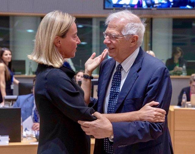 Federica Mogherini i Josep Borrell