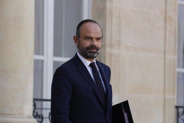 Edouard Philippe en el Palacio del Elíseo