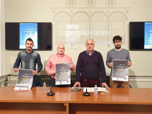 Presentación de la carrera popular 'La lenteja veloz' de Castellanos de Moriscos (Salamanca).