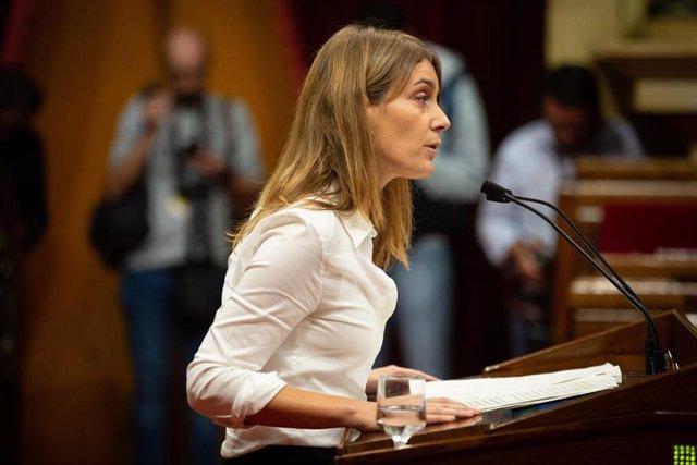 Jéssica Albiach (CatECP) interviene en el Parlament de Catalunya
