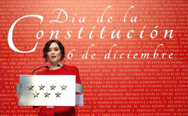 La presidenta de la Comunidad de Madrid; Isabel Díaz Ayuso