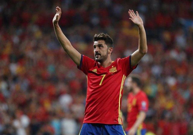 David Villa vuelve a jugar con la selección española