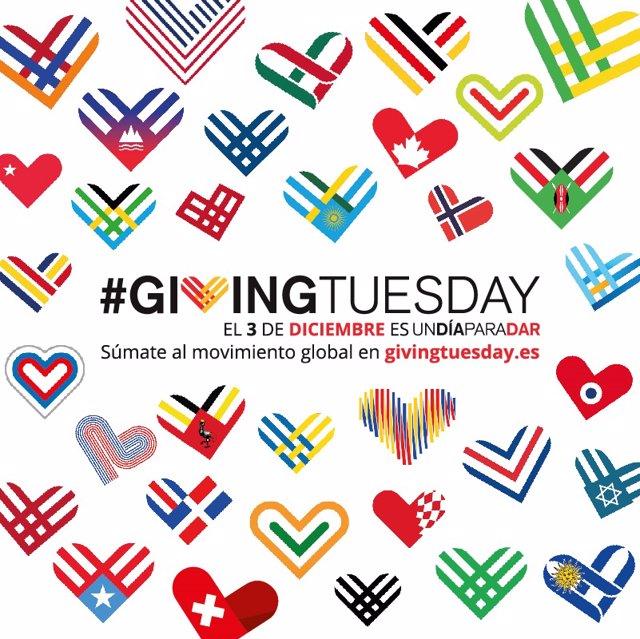 El movimiento solidario '#GivingTuesday' se celebra este 2019 el 3 de diciembre