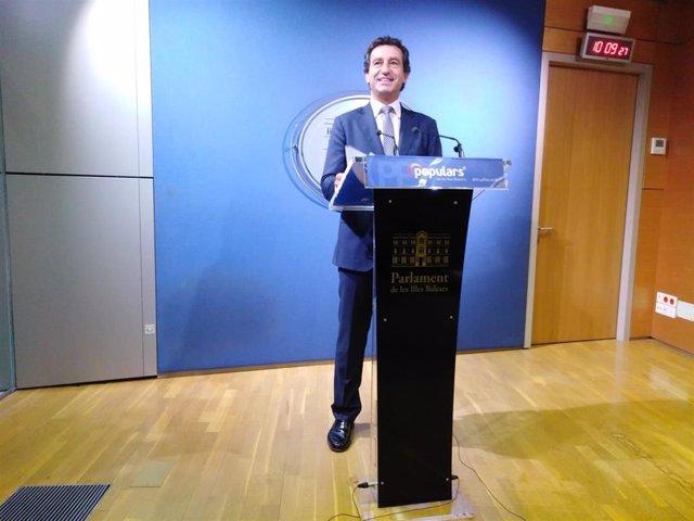 El portavoz del PP en el Parlament de Baleares ,Biel Company.