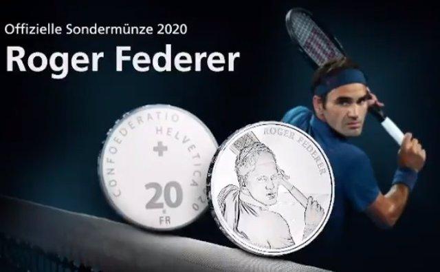 Tenis.- Suiza acuñará monedas de oro y plata con el rostro de Roger Federer
