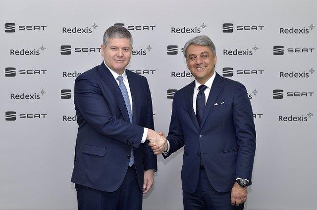 Fernando Bergasa, president de Redexis, i Luca de Meo, president de Seat