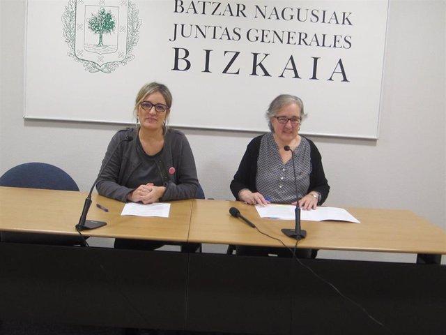 Bea Ilardia y Arantza Urkaregi
