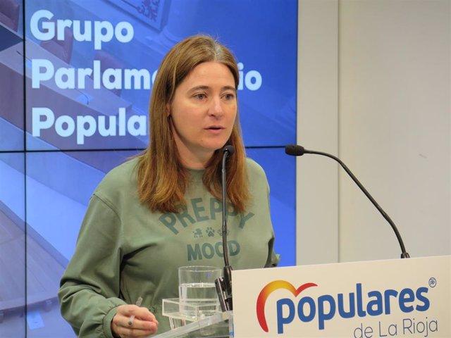 """La diputada 'popular' ha anunciado que el PP cuestionará al Gobierno riojano, en el próximo pleno parlamentairo, sobre los últimos """"ataques"""" a la DOC Rioja"""