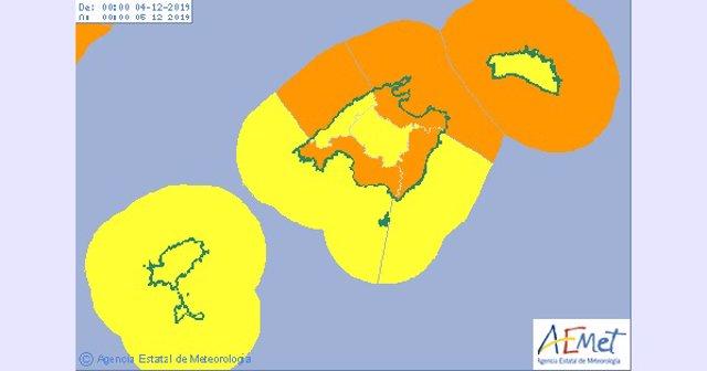 Este martes se activará el aviso naranja por lluvias y fenómenos costeros