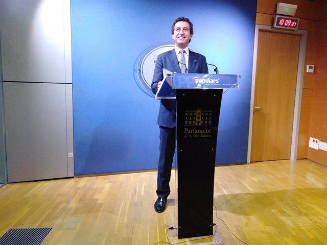 El portaveu del PP en el Parlament de Balears ,Biel Company.