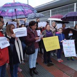 Protesta en el IES Alvareda