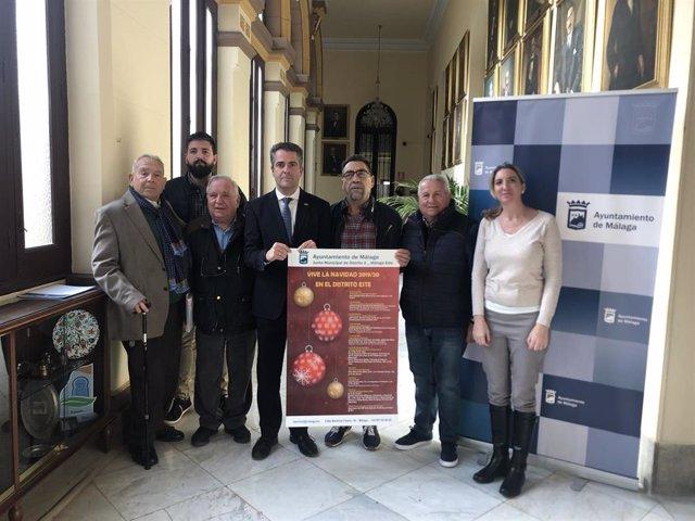 Presentación de las actividades de Navidad en el distrito Málaga Este