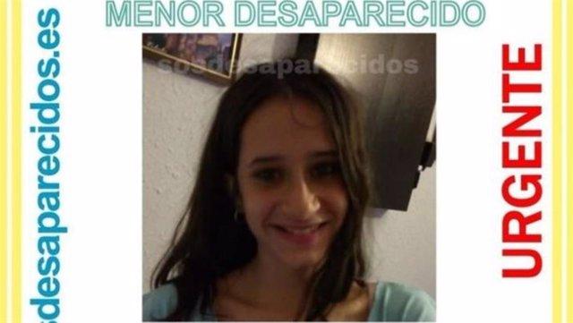 Imagen de la desaparecida el 30 de noviembre en Puente de Vallecas