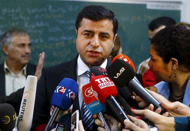 El lider del HDP turco Selahattin Demirtas