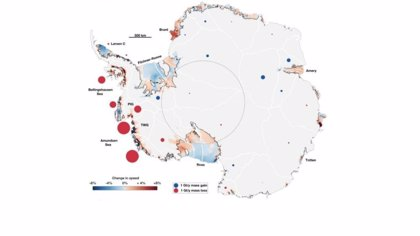 La Física corrobora que más hielo del interior antártico llega al mar