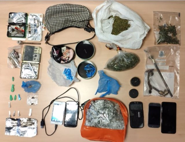 La Policía Nacional se ha incautado de cocaína, heroína, marihuana y otros efectos en el marco de la actuación