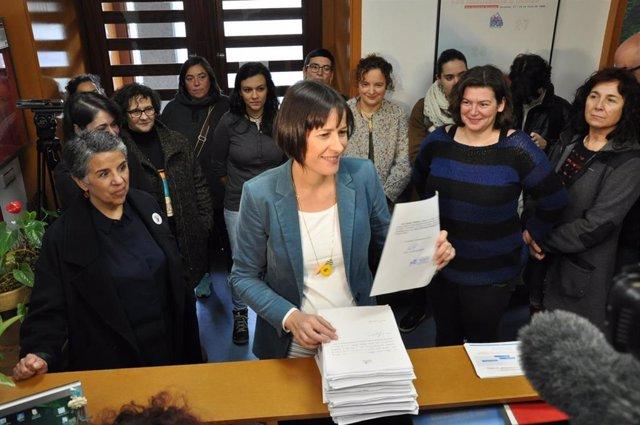 Ana Pontón presenta los avales para ser candidata a la Xunta