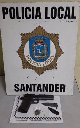 Pistola y otras armas