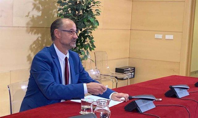 El portavoz de Ciudadanos y presidente de las Cortes de Castilla y León, Luis Fuentes.