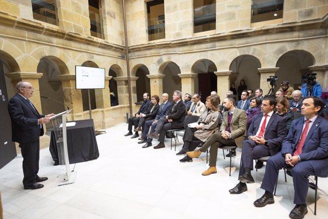 Firma de la Declaración de Davos en San Sebastián