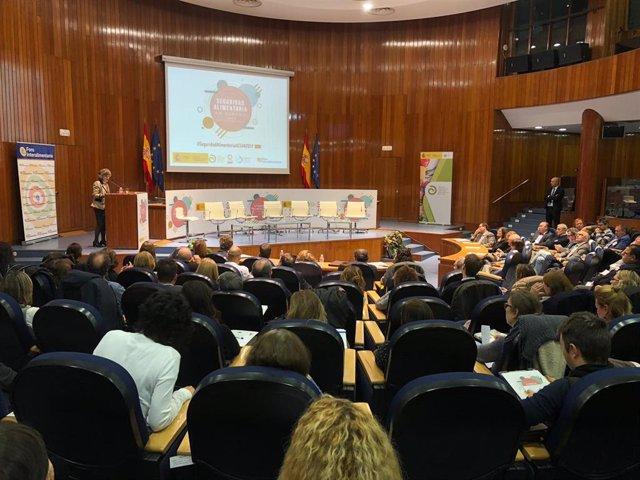 Acto de la Minitra de Sanidad en funciones, María Luisa Carcedo.