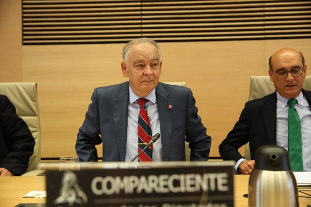 Eugenio Pino Sánchez declara a la comissió del Congrés sobre la utilització partidista del Ministeri de l'Interior.