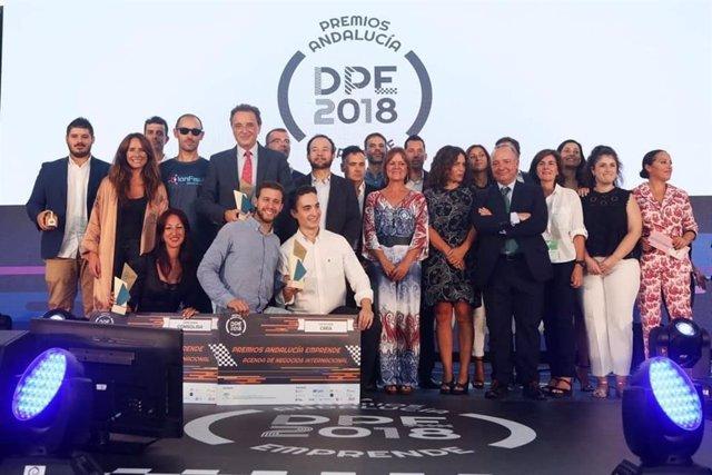 Galardonados en 2018 con los Premios Andalucía Emprende