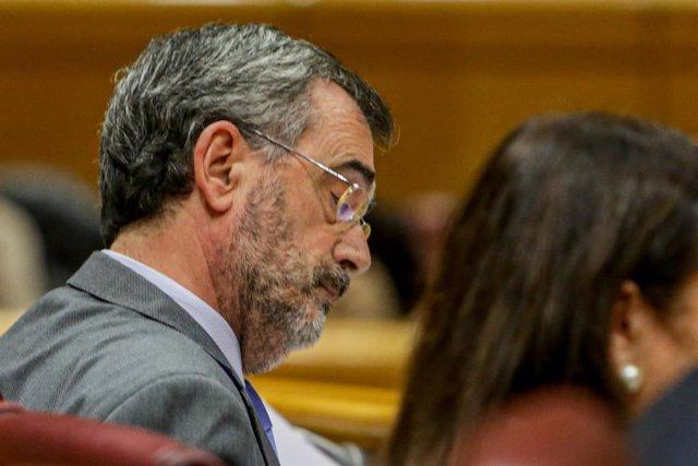 El president del Senat, Manuel Cruz durant la diputació permanent del Senat, a Madrid (Espanya), a 2 de desembre del 2019
