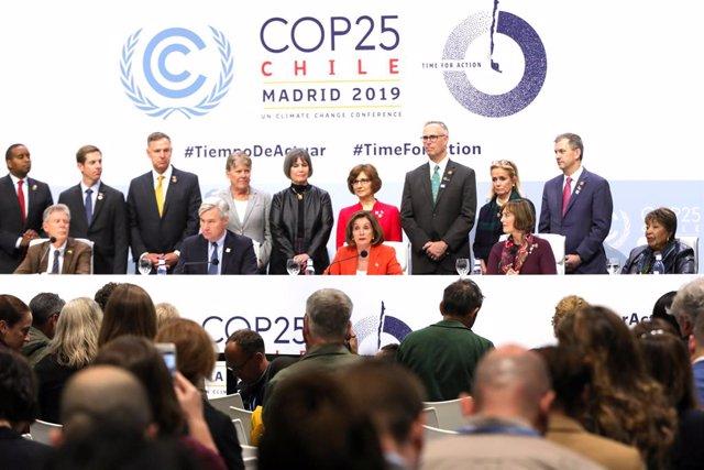 COP25.- Nancy Pelosi reivindica el compromiso de EE.UU en la lucha contra el cam