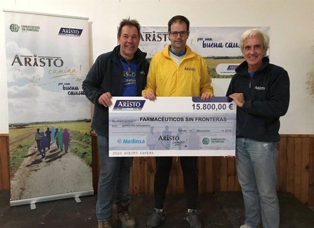 Cuarta edición de la iniciativa solidaria 'Aristo Camina', promovida por FSFE y Aristo Pharma