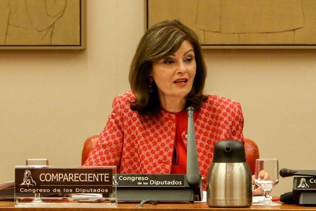 La secretaria de Estado de Seguridad, Ana Botella, en la Comisión de Interior del Congreso.