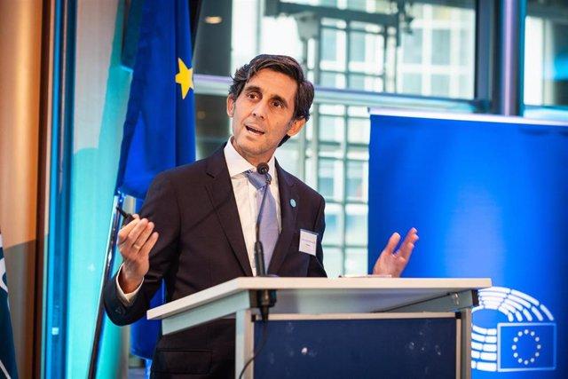 El presidente ejecutivo de Telefónica, José María Álvarez-Pallete, en el Parlamento Europeo