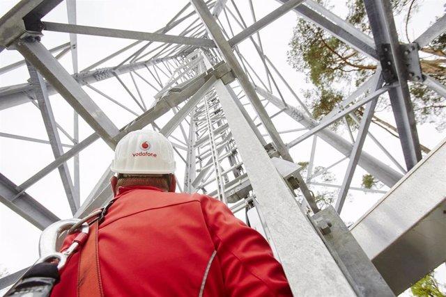 Torre de telecomunicaciones de Vodafone en Alemania