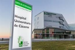 Hospital Universitario de Cáceres, en una imagen de archivo.