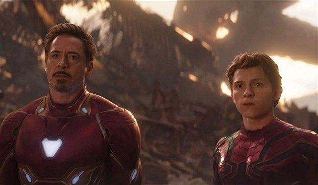 Iron Man y Spider-Man en Vengadores: Endgame